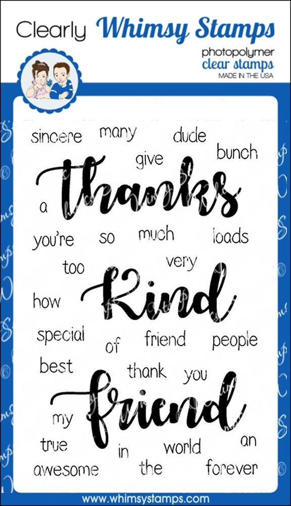 Whimsy Stamps YOU'RE TOO KIND Clear Stamps CWSD222 zoom image
