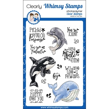 Whimsy Stamps WHALE OF A TIME Clear Stamps C1331
