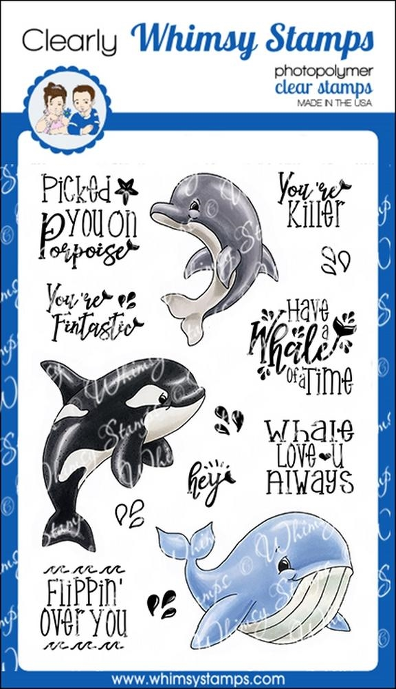 Whimsy Stamps WHALE OF A TIME Clear Stamps C1331 zoom image