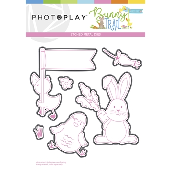 PhotoPlay BUNNY TRAIL Die Set btl9235
