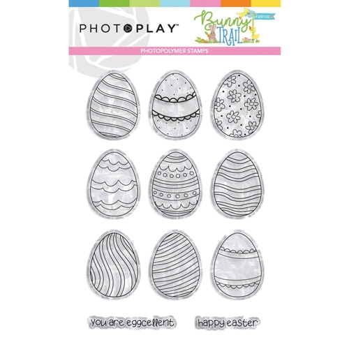 PhotoPlay BUNNY TRAIL EGGS Clear Stamps btl9236 Preview Image
