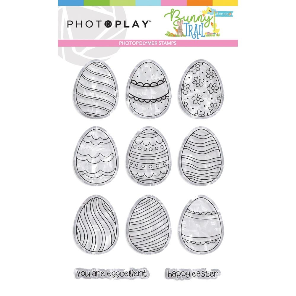 PhotoPlay BUNNY TRAIL EGGS Clear Stamps btl9236 zoom image