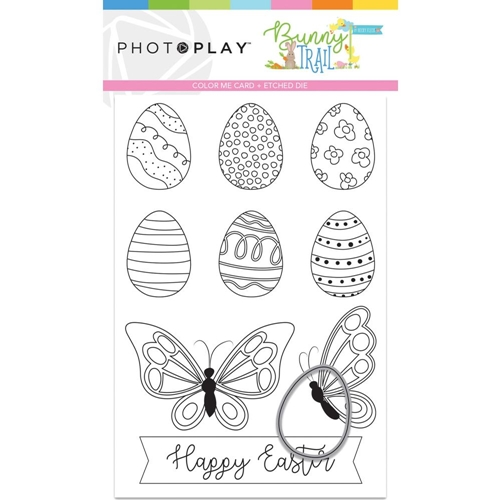 PhotoPlay BUNNY TRAIL Color Me Card And Die btl9237 Preview Image