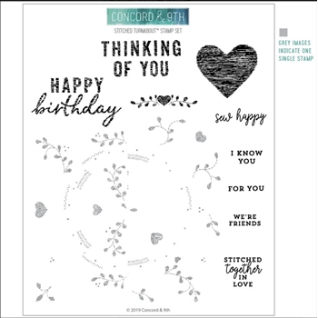 Concord & 9th STITCHED TURNABOUT Clear Stamp Set 10532