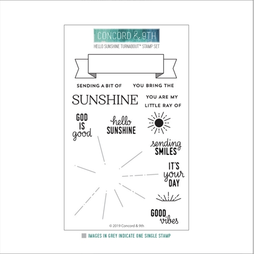 Concord & 9th HELLO SUNSHINE TURNABOUT Clear Stamp Set 10527 Preview Image