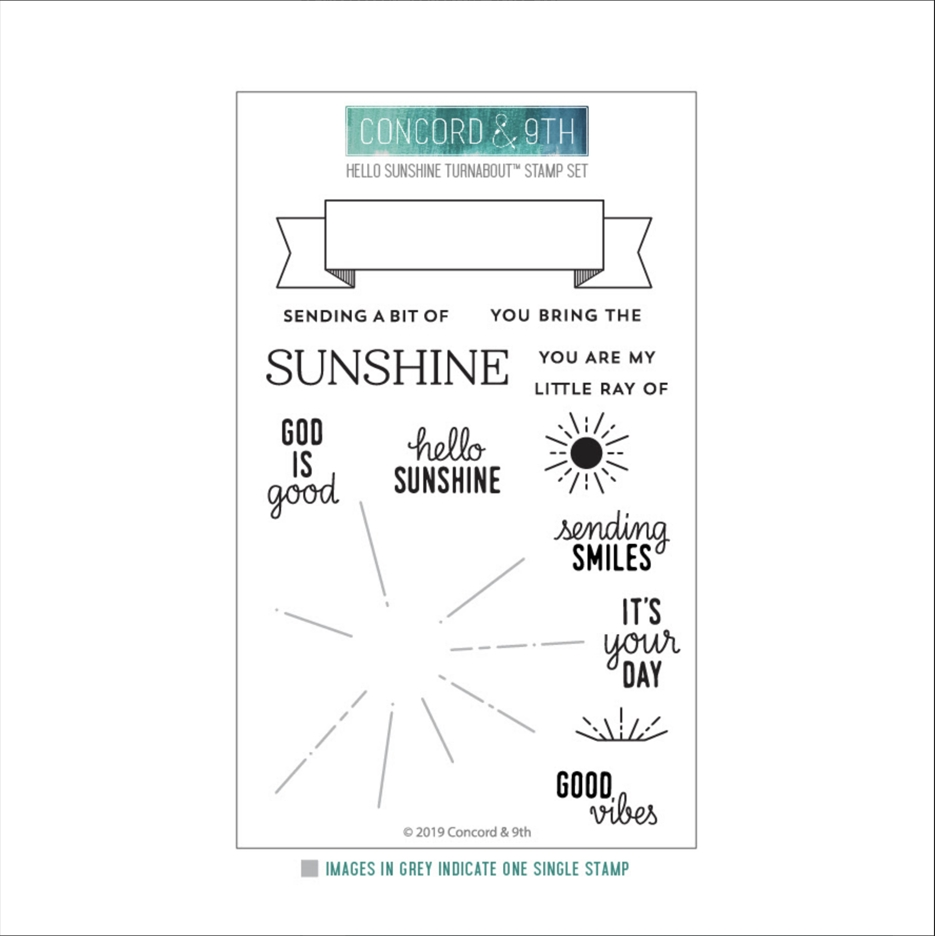 Concord & 9th HELLO SUNSHINE TURNABOUT Clear Stamp Set 10527 zoom image