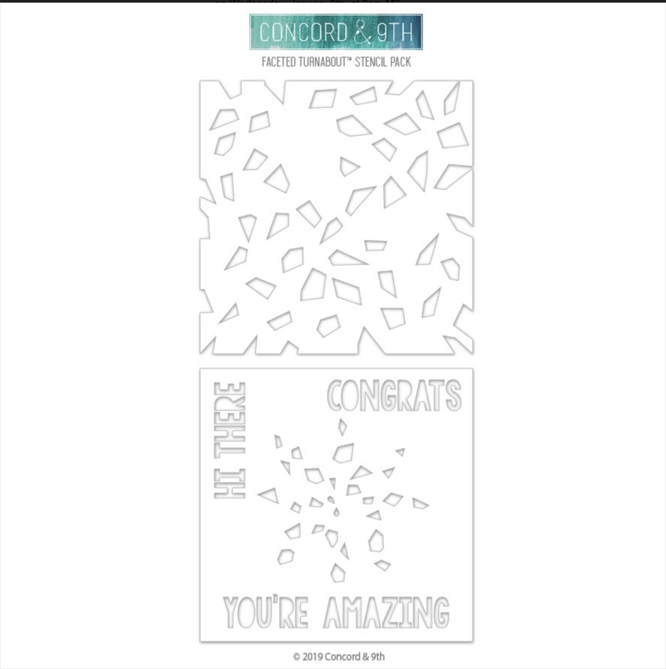 Concord & 9th FACETED TURNABOUT Stencil 10526 zoom image