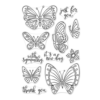 Hero Arts Clear Stamps NEW DAY BUTTERFLIES CM320
