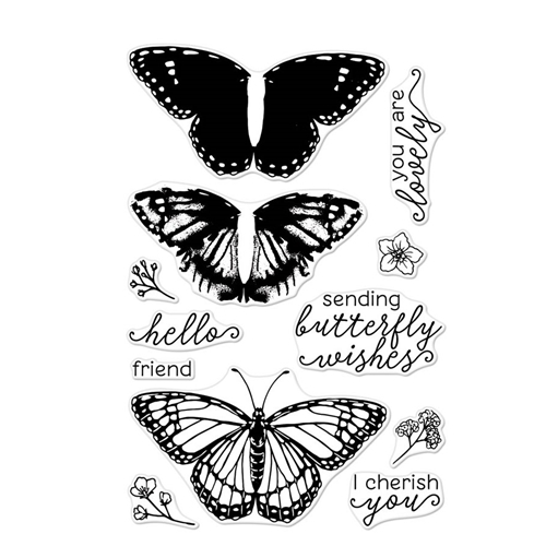 Hero Arts Clear Stamps Color Layering MONARCH BUTTERFLY CM331 Preview Image
