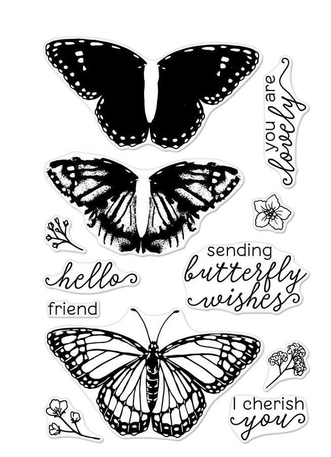 Hero Arts Clear Stamps Color Layering MONARCH BUTTERFLY CM331 zoom image