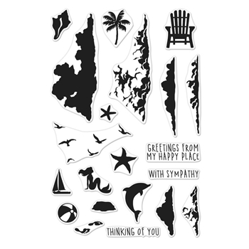 Hero Arts Clear Stamps Color Layering SEA AND SKY CM317