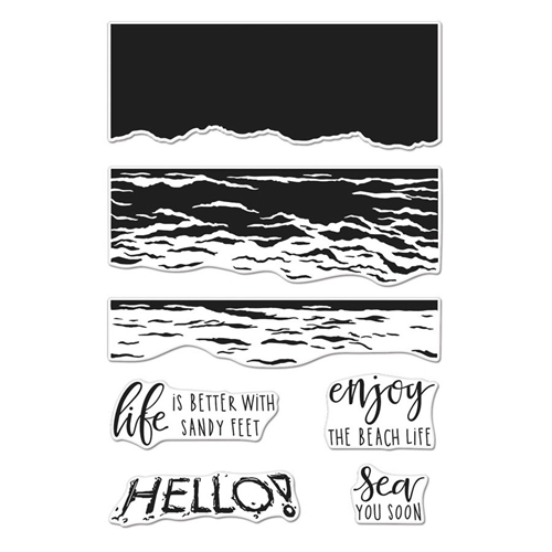 Hero Arts Clear Stamps Color Layering WAVES CM316 Preview Image