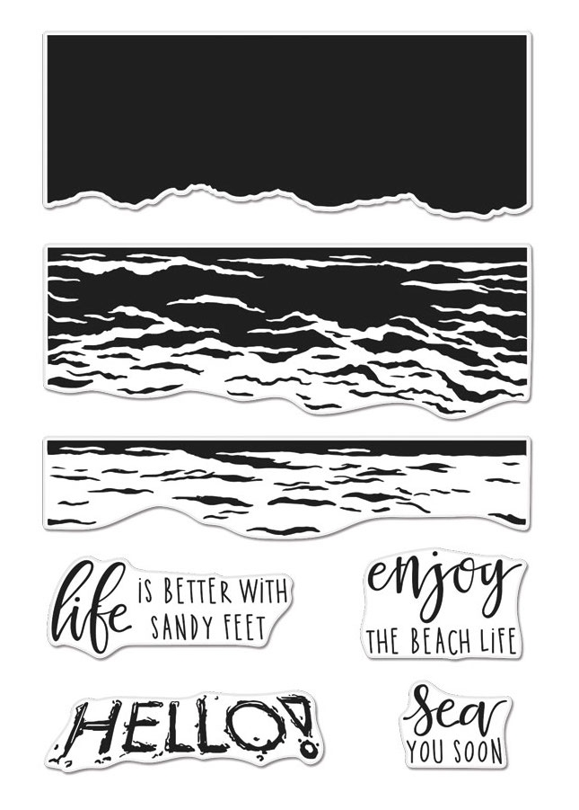 Hero Arts Clear Stamps Color Layering WAVES CM316 zoom image