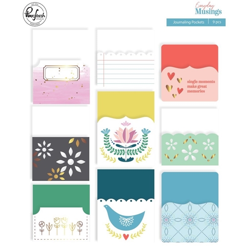 Pinkfresh Studio EVERYDAY MUSINGS Journaling Pockets pfrc100519 Preview Image