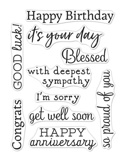 Hero Arts Clear Stamps GREETINGS OCCASIONS SET CM336 zoom image