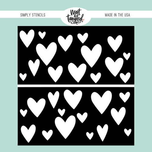 Neat and Tangled HEART DUO Stencil NAT453 Preview Image