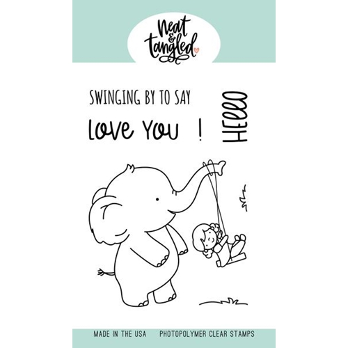 Neat and Tangled SWINGING BY Clear Stamps NAT451 Preview Image
