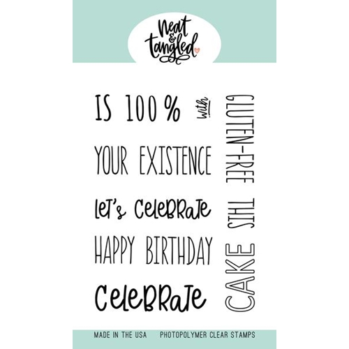 Neat and Tangled PIECE OF CAKE SENTIMENTS Clear Stamps NAT449  Preview Image