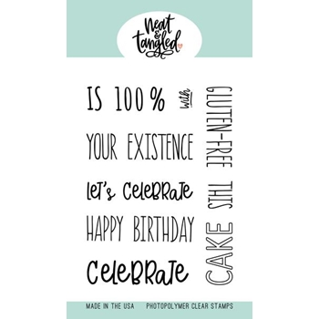 Neat and Tangled PIECE OF CAKE SENTIMENTS Clear Stamps NAT449 *