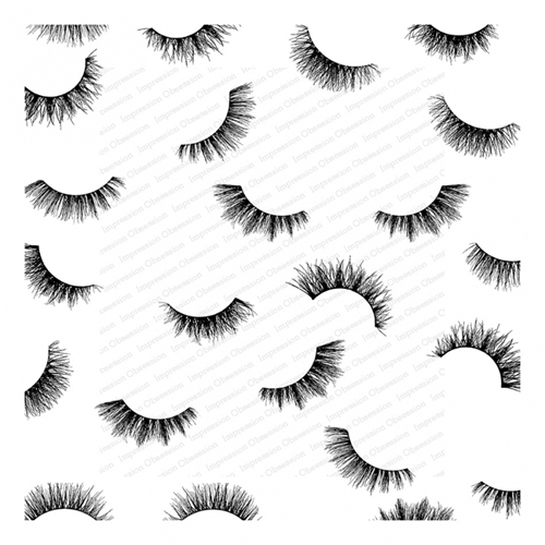 Impression Obsession Cling Stamp FLIRTY EYELASHES Cover A Card CC336 Preview Image