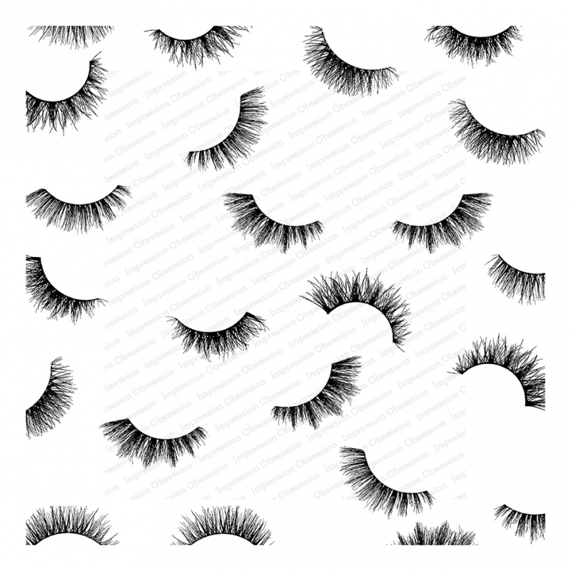 Impression Obsession Cling Stamp FLIRTY EYELASHES Cover A Card CC336 zoom image