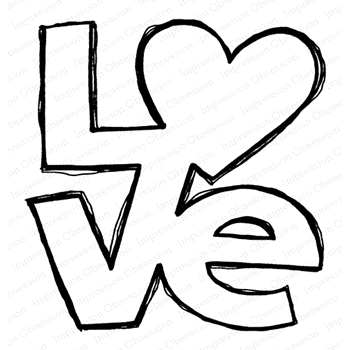 Impression Obsession Cling Stamp LOVE F21153*