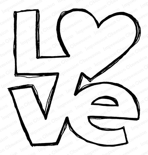 Impression Obsession Cling Stamp LOVE F21153 zoom image