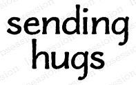Impression Obsession Cling Stamp SENDING HUGS A13739