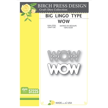 Birch Press Design BIG LINGO TYPE WOW Craft Dies 57225