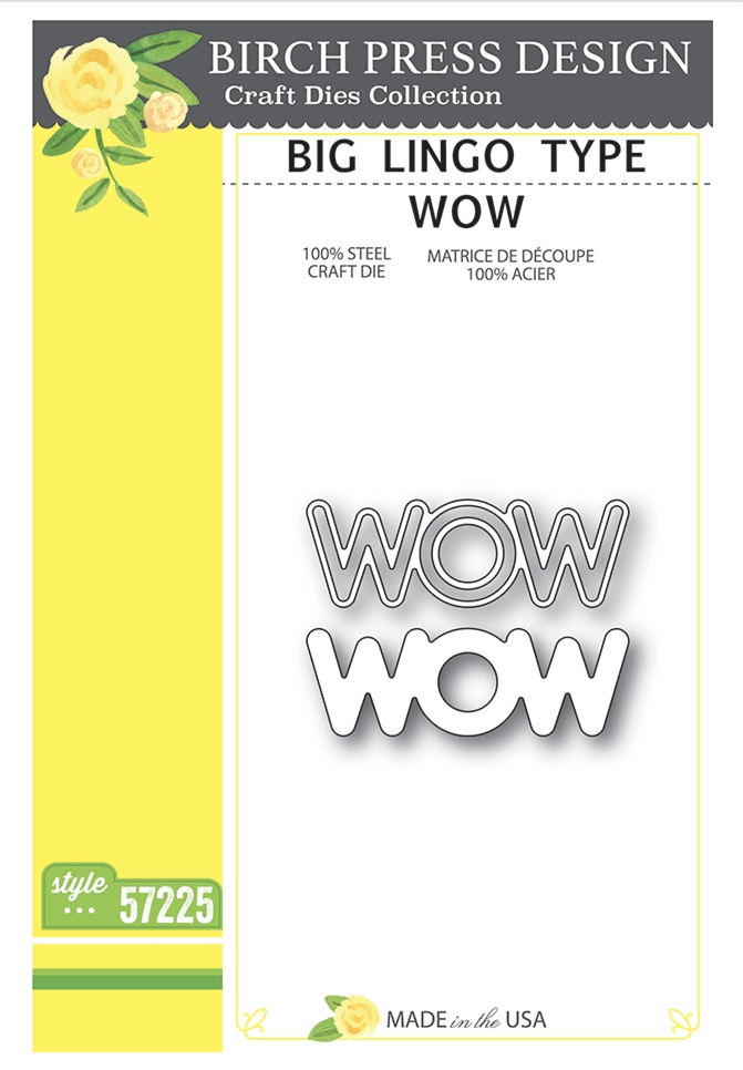 Birch Press Design BIG LINGO TYPE WOW Craft Dies 57225 zoom image