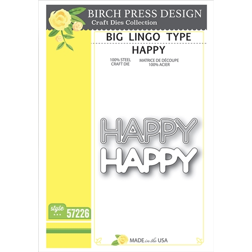 Birch Press Design BIG LINGO TYPE HAPPY Craft Dies 57226 Preview Image