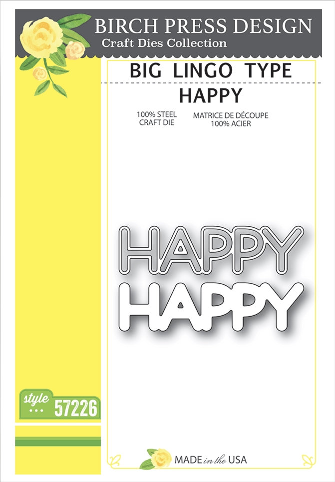 Birch Press Design BIG LINGO TYPE HAPPY Craft Dies 57226 zoom image