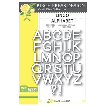Birch Press Design LINGO ALPHABET Craft Dies 57231