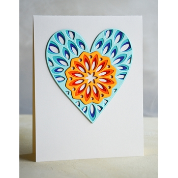 Birch Press Design KALEIDOSCOPE HEART LAYER SET Craft Dies 56095