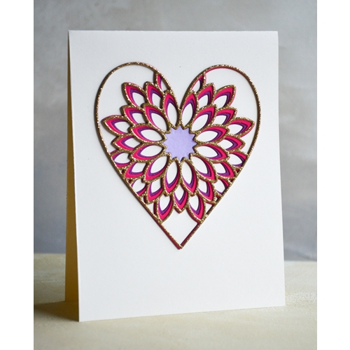 Birch Press Design DAHLIA HEART LAYER SET Craft Dies 56096 Preview Image