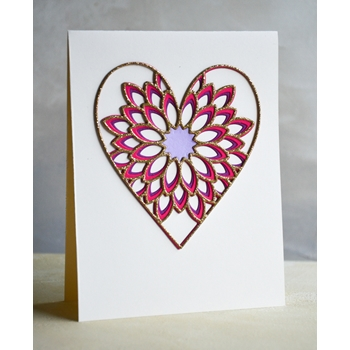 Birch Press Design DAHLIA HEART LAYER SET Craft Dies 56096