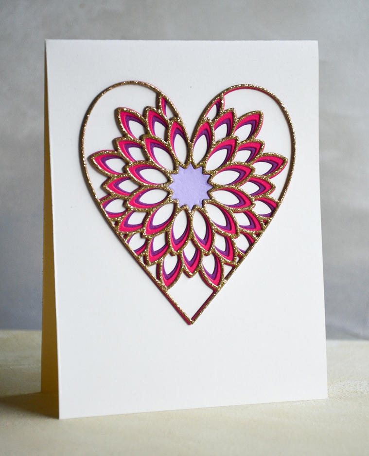 Birch Press Design DAHLIA HEART LAYER SET Craft Dies 56096 zoom image
