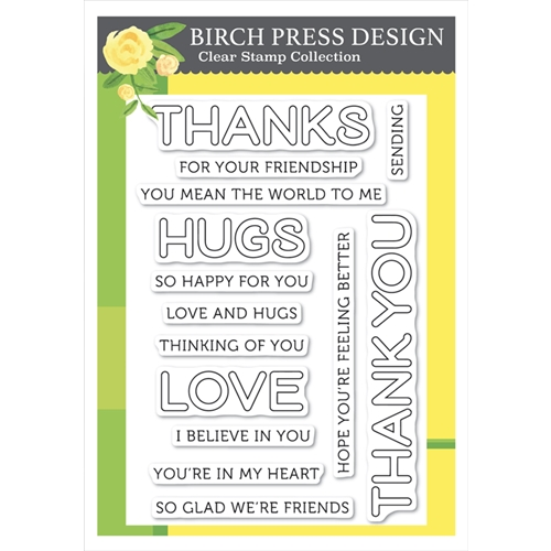 Birch Press Design LINGO THANKS Clear Stamp Set cl8143 Preview Image