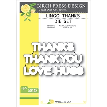 Birch Press Design LINGO THANKS Die Set 58143