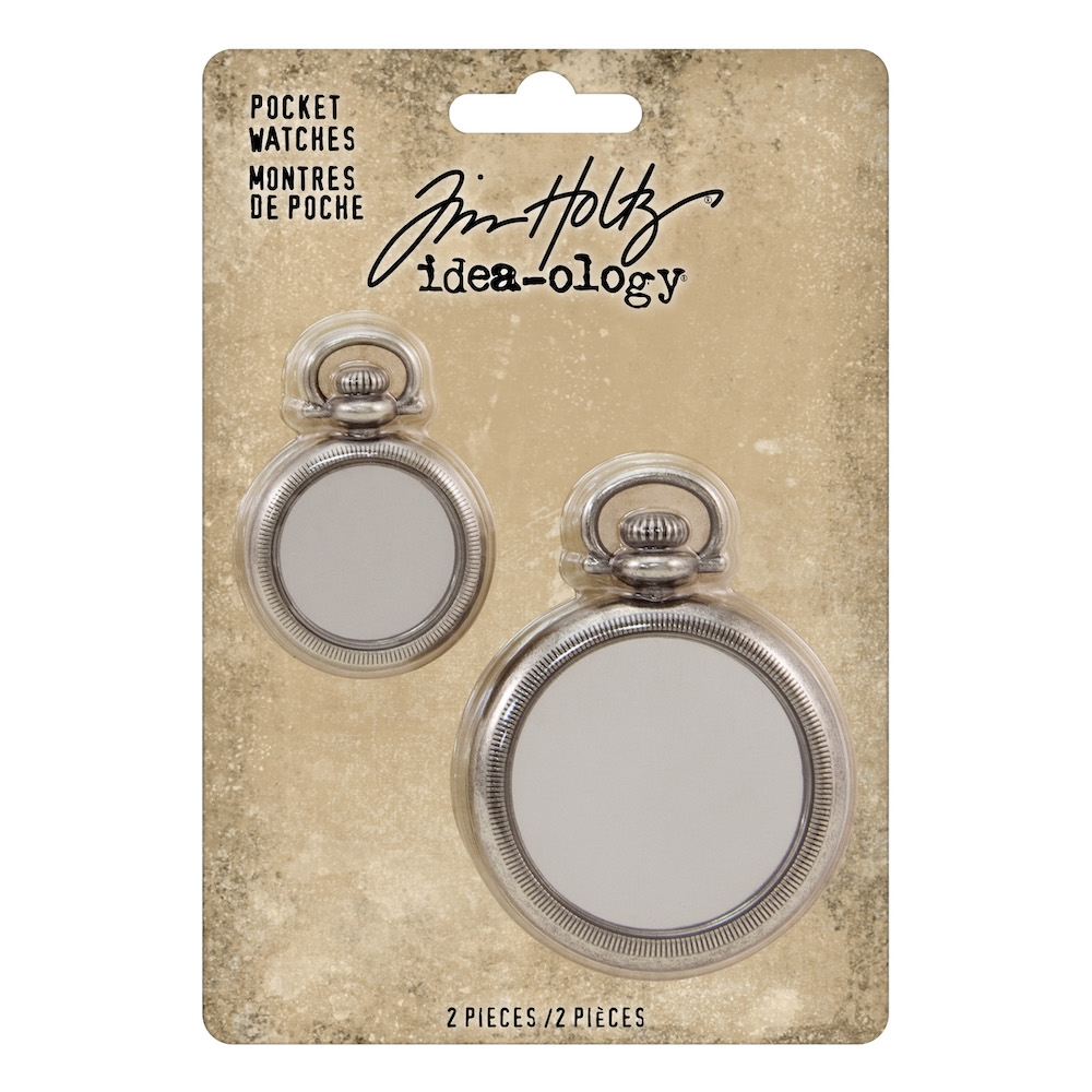Tim Holtz Idea-ology POCKET WATCHES th93960 zoom image