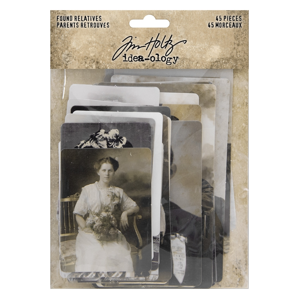 Tim Holtz Idea-ology FOUND RELATIVES th93798 zoom image