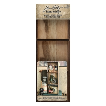 Tim Holtz Idea-ology VIGNETTE DIVIDED DRAWER th93793