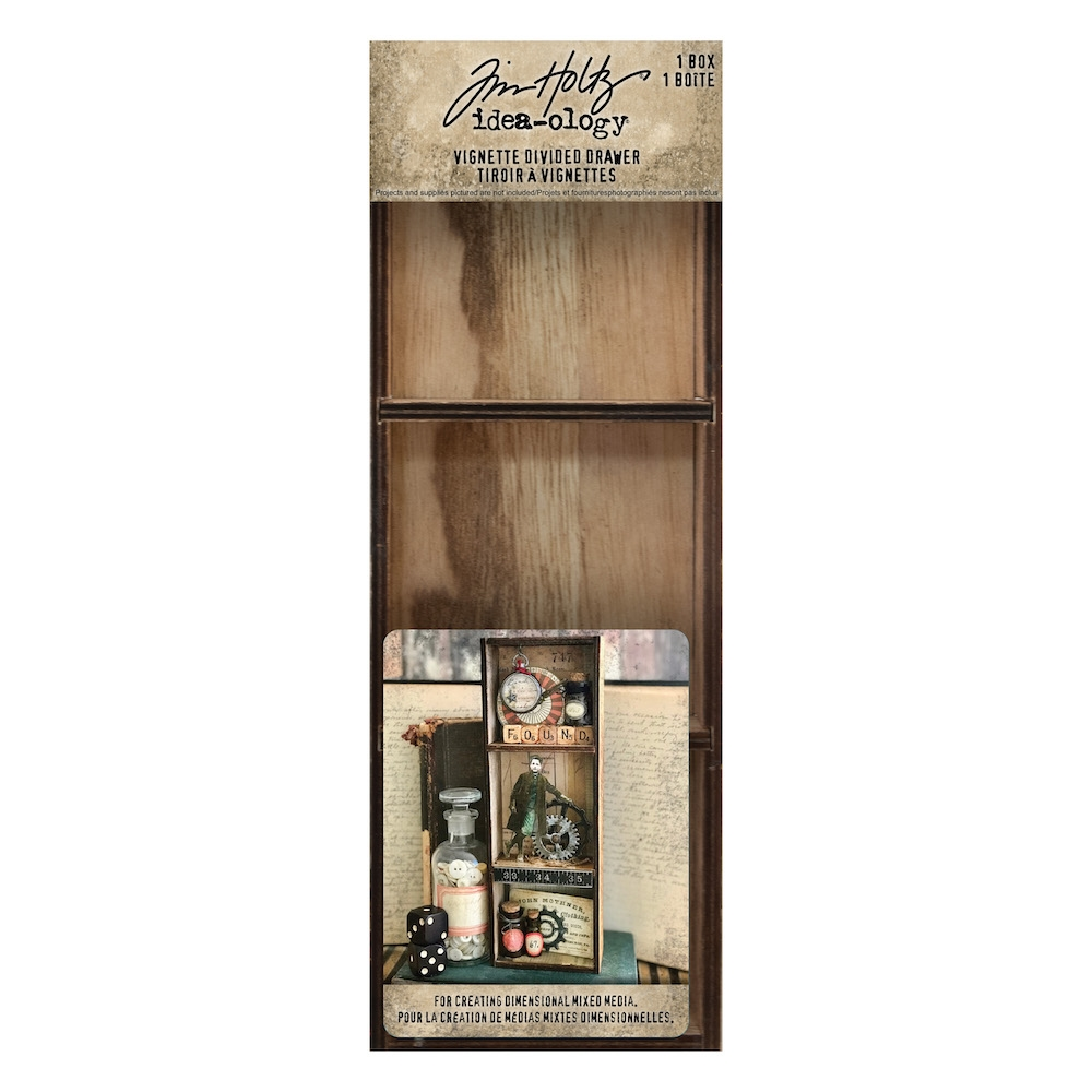 Tim Holtz Idea-ology VIGNETTE DIVIDED DRAWER th93793 zoom image