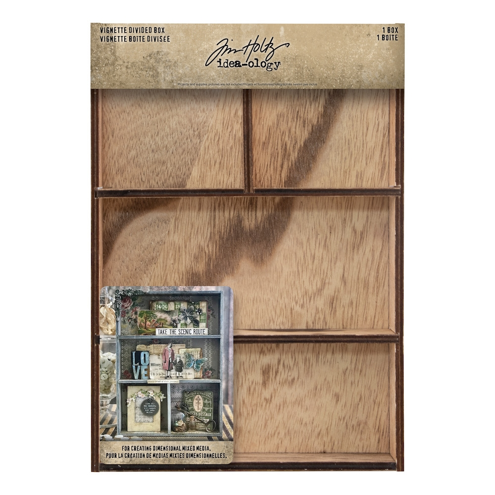 Tim Holtz Idea-ology VIGNETTE DIVIDED BOX th93794 zoom image