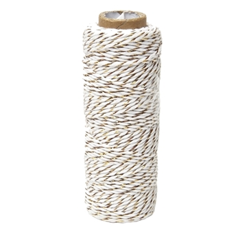 May Arts GOLD Baker's Twine Twisted Ribbon 4120230