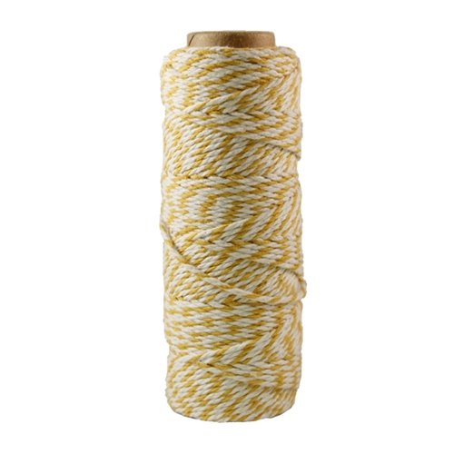 May Arts YELLOW Baker's Twine Twisted Ribbon 41227*
