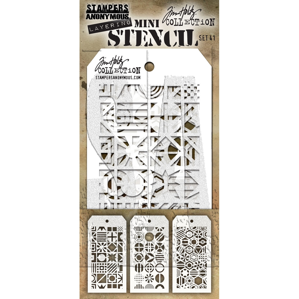 Tim Holtz MINI STENCIL SET 41 MST041 zoom image