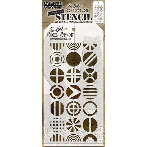 Tim Holtz Layering Stencil PATCHWORK CIRCLE THS124 Preview Image