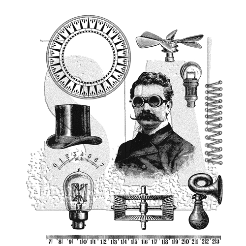 Tim Holtz Cling Rubber Stamps 2019 THE PROFESSOR CMS373 Preview Image
