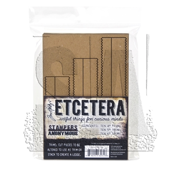 Tim Holtz Etcetera PINKED TRIMS Chipboard THETC-009
